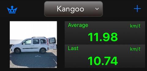 カングー平均燃費