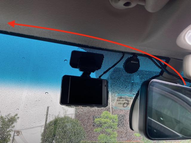 カングー ドライブレコーダー デジタルインナーミラー 配線